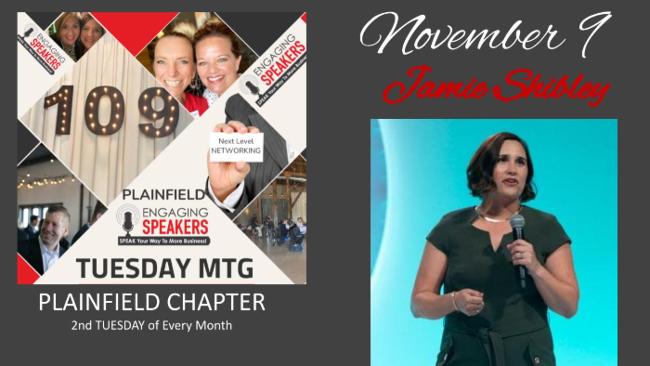 NOVEMBER PLAINFIELD - Tuesday 9th - Warehouse 109